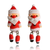 Brincos de ouvido de boneco de neve bonitos feitos à mão