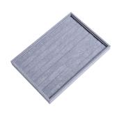 Velvet Linen Leather Rings Display Jóias Caixa de armazenamento Caixa Jóias Display Bandeja Show Case