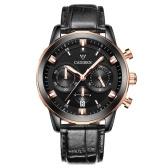 Cadisen Uhr Herren Sport Chronograph Uhr Quarz Armbanduhr Business Wasserdichte Uhr Männer