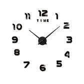 Relógio de parede DIY sem moldura relógio de parede 3D espelho