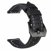 For Samsung Galaxy Watch Premium   Vintage Crazy Horse Genuine Leather Strap