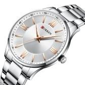 CURREN 8383 Men Quartz Watch Stainless Steel Strap Fashion Multifunction Wristwatch 3ATM Chronograph Dress Watches