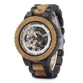 BOBO BIRD Мужские деревянные часы Механические наручные часы с подарочной коробкой Часы с деревянным ремешком для мужчин