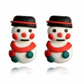 Handmade Cute Snowman Ear Studs