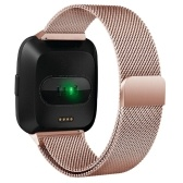 Fitbit Versa Bandas pulseira de aço inoxidável com ímã exclusivo bloqueio acessórios bandas para mulheres bandas para homens pulseiras para Fitbit Versa