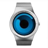 GEEKTHINK 6002 Nowy zegarek kwarcowy luksusowy pasek ze stali nierdzewnej mężczyzn i kobiet Prezenty Zimny pasek na rękę zegarek z tarczą obrotową