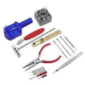 16Pcs Watch Repair Tools Kit Band Strap Link Remover Back Opener Screwdriver
