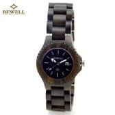 BEWELL alta calidad reloj ligero madera Natural medio ambiente mujeres excelente resistente al agua reloj de cuarzo con calendario