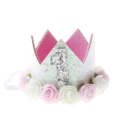 New Flower Crown Children Baby Headwear Hair Band Newborn Baby Princess Crown na przyjęcie urodzinowe