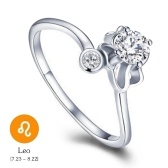12 Konstellationen Exquisite Glitzernde Retro Liebhaber Ring Frauen Alte Elegante Attraktive Zink-legierung Fingerring