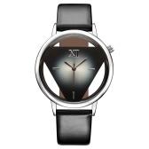 GEEKTHINK Clássico Elegante Oco De Quartzo Senhora Relógio Mulheres de Luxo Da Marca de Ouro Senhoras Casual Vestido Pulseira De Couro Relógio Feminino Meninas Tendência Invertido Triângulo Cinto Relógio de Pulso para a Mulher
