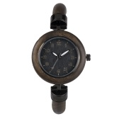 BEWELL ZS-W151A Frauen Holz Uhr Quarzwerk Vintage Casual Armband Armreif Armbanduhr