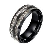 Moda de Nova Hot Único Punk Feminino metal aço anel de titânio para o partido Mulher Faixa de casamento encanto presente da jóia