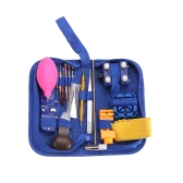126pcs Kit di strumenti di riparazione dell'orologio Caso posteriore Apri pin della molla Barra di rimozione del collegamento Cacciavite Pinzetta Set di strumenti con borsa per il trasporto