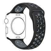 Bracelete de pulseira desportiva de substituição de silicone respirável