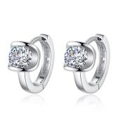 Nowe kobiety Biżuteria Moda wysokiej jakości 1 para Diamentowe kolczyki uszu Nonallergic Unfading Kolczyki Dziewczyny prezent