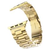 Banda de reloj de acero inoxidable de lujo de moda para iwatch Serie 38mm / 42mm Banda de reloj de pulsera de reemplazo de pulsera para Apple Watch Series