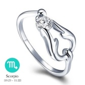 12 Constellations Exquisite Glistening Retro Lovers Ring Anello da dito in lega di zinco antico elegante e attraente