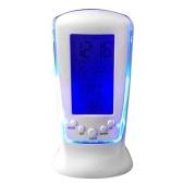 Calendario Orologi Digital LED Orologio da tavolo Orologio da comodino Temperatura Musica Illuminazione Sveglia multifunzione pigro con display a LED Orologio elettronico