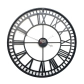 Round Wall Clock Black Vintage Mute Quartz Movement Decoratieve Clock