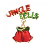 Bling Bling Christmas Santa Claus Brooch Crystal Rhinestone Collar Pin Scarf Buckle Gift