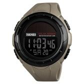 Skmei 1405 hombres analógico reloj digital de moda casual deportes reloj de pulsera 5ATM correa de cuero resistente al agua contraluz relojes multifuncionales Relogio Masculino