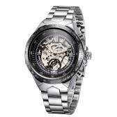 Reloj mecánico esqueleto hombres automático alta calidad ganador grande marcar automático reloj de hombres de negocios
