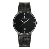 WWOOR Ultra Thin Moda Luksusowa diamond Quartz Ananlog Man Casual Zegarki Stainless Steel Prostota Men Watch użytkowa + Watch Box