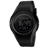 SKMEI 5ATM防水スポーツ腕時計バックライト腕時計男性用クロノグラフアラーム