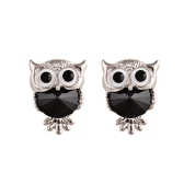 Fashion Naughty Owl Kristall Strass Sparkle Zirkonia Ohrstecker Ohrringe Frauen Schmuck