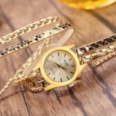 Arbeiten Sie Weinlese-zufälliges wickelnes Serpentinenkorn umsponnene Uhr-Frauen-Quarz-Armbanduhr um