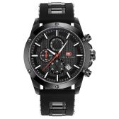 MINI FOCUS Fashion Luminous Quartz Man Watch Water-Proof Silicone Band Men Casual Wristwatch Chrono Sports Style + Box