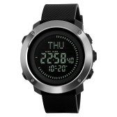 SKMEI Męski 5ATM Wodoodporny elektroniczny zegarek LED E-Compass Outdoor Sports Zegarki cyfrowe Alarm podświetlenia / Stoper / Odliczanie / Kalendarz Data Okno / Czas światowy