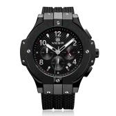 MEGIR Chronograph Sport Watch Men Zegarek kwarcowy zegar silikonowy zegarek Army Military Wrist Watch
