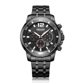 MEGIR Quarz Herrenuhr Uhr Sport Armbanduhr Chronograph Business Watch Wasserdicht Leuchtend