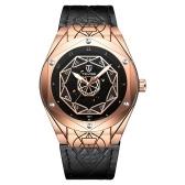 TEVISE T821 hombres marca reloj reloj mecánico automático impermeable correa de cuero caso de aleación de reloj de pulsera de vidrio reforzado