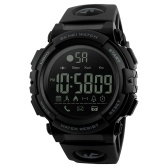 SKMEI 1303 Smart Watch Analógico Digital Podómetro Calor Fitness Monitor Reloj Fashion Casual deportivo Reloj de pulsera 5ATM Waterproof Backlight BT Multifuncional Hombre Relojes para Android y iOS