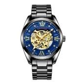 TEVISE 795D hombres de negocios reloj mecánico automático reloj de pulsera de acero inoxidable moda casual masculino