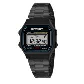 SANDA 405 Ultradünne 9mm Sportuhr Männer Elektronische LED Digital Armbanduhren Wasserdichte Uhr Kalender Uhr für Männer