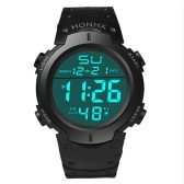 Homens LED Light Digital Sport Watch