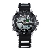 WEIDE WH1104 Dual Display Two Movement Quartz Digital Men Watch