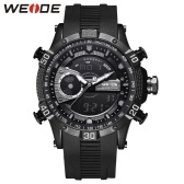 WEIDE WH6902 Dual Display Two Movement Quartz Digital Men Watch