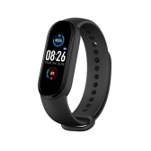 M5 0.96-inch Smart Bracelet Sleep Blood Pressure Monitor Wristband Multiple Sport Modes Smart Watch Compatible with Android iOS