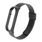 Smartwatch Band  Replacement Bracelet Strap Watch Belt Double Elastic Buckle Stainless Steel Metal Wrist Strap Compatible with Xiaomi Mi Band 5