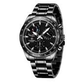 FORSINING montre mécanique automatique pour hommes avec bracelet en acier inoxydable affichage lumineux montre-bracelet de mode pour garçon hommes