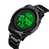 SKMEI Men Digital Business Watch Dual Time Mode Date Week Alarm Clock Backlight 3ATM Waterproof Male Fashion Watches Wristband for Daily Life Work Men