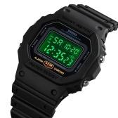 メンズデジタルスポーツウォッチSKMEIクラシック防水スポーツウォッチ、アラームストップウォッチカウントダウンLEDバックライト電子腕時計