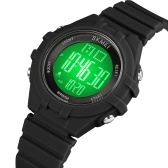 SKMEI Kids Digital Watch for Boys Girls 7-Color LED Backlight 5ATM Waterproof Students Sports Watches Time Week Date Display Stopwatch Alarm Clock Fashion Wristband Children Birthday Present Festival Gifts