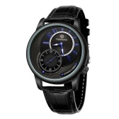 Mechanical Watch with Leather Strap 3ATM Automatic Wristwatch for Men Boys