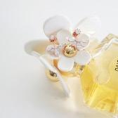 Strass cristallo foglia indietro appeso argento Orecchini borchie gioielli per donne ragazza sposa festa di matrimonio